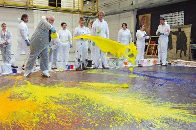 """Arbeit am Bühnenbild """"Saint Francois d'Assise"""", Bayrische Staatsoper, 2011, Foto: Wilfried Hösl"""