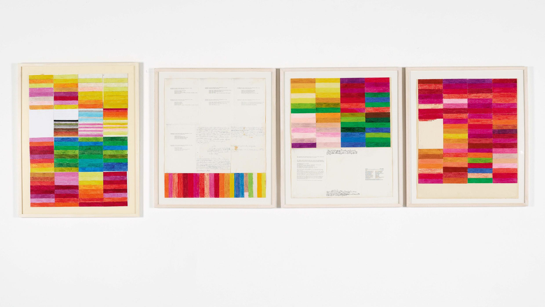 Farblehre |Farbkreide, Tusche und Druck auf Papier |Courtesy: MUMOK, Wien |Foto: Manfred Thumberger