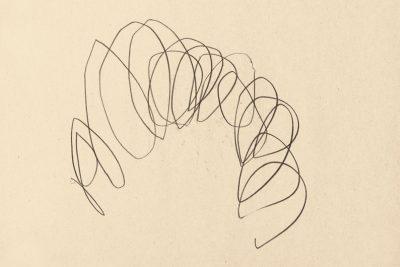 Hermann Nitsch   Kritzelzeichnung  Bleistift auf Papier  22,5x29,6 cm   1959-61