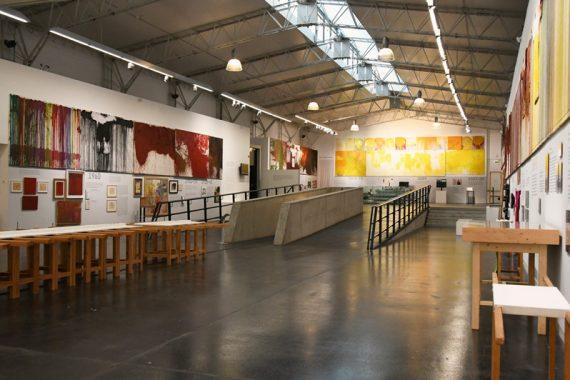 """Ausstellungsansicht """"Leben und Werk"""" nitsch museum, Mistelbach"""