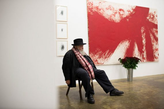 Hermann Nitsch in der Nitsch Foundation
