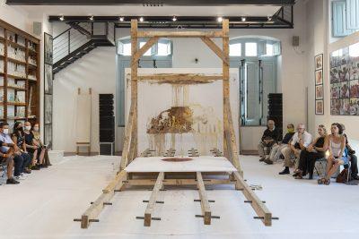 158. aktion, Foto: Amedeo Benestante ©Museo Hermann Nitsch | Fondazione Morra